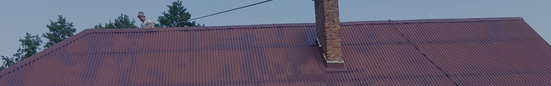 Mężczyzna na dachu
